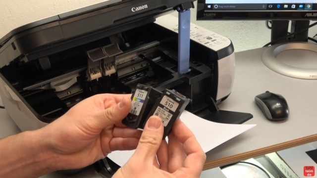 Canon Pixma Drucker 5200 Fehler mit dem Druckkopf - Drucker reagiert nicht - Ersatzpatronen oder neuen Druckkopf einbauen