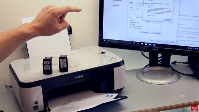 Canon Pixma Drucker 5200 Fehler mit dem Druckkopf - Drucker reagiert nicht - Windows meldet keine Fehler mehr