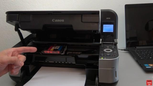 Canon Pixma Druckkopf Fehler U052 Error - Canon Drucker Reset - Druckkopf wurde schon ausgebaut und gereinigt