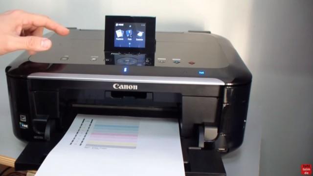 Canon Pixma Kopf ausbauen und reinigen - Drucker mit fünf Patronen und herausnehmbaren Druckkopf