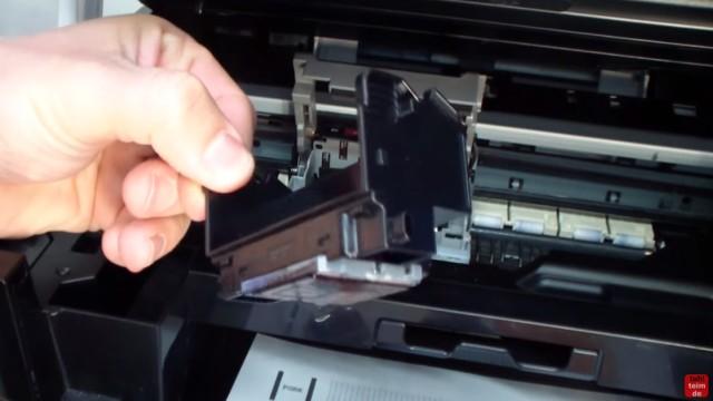 Canon Pixma Kopf ausbauen und reinigen - Drucker öffnen - Druckkopf herausnehmen