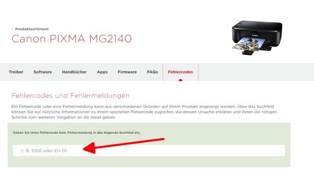 Canon Pixma blinkt orange - Alle Fehlercodes mit diesem Video finden - Fehlermeldung eingeben, z.B. U052 oder B200