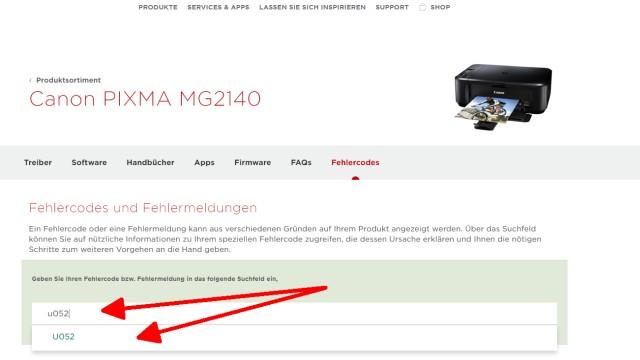 Canon Pixma blinkt orange - Alle Fehlercodes mit diesem Video finden - und den Vorschlag anklicken