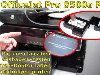 HP OfficeJet Pro 8000/8500a Plus Druckprobleme - Druckkopf und Patronen
