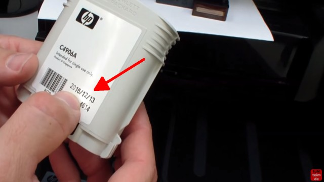 HP OfficeJet Pro 8000/8500a Plus Druckprobleme - Druckkopf und Patronen - Patrone hat auch ein aufgedrucktes Ablaufdatum