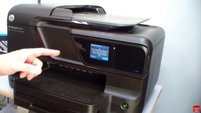 HP OfficeJet Pro 8600 Patronenfehler - Mindestens eine Patrone fehlt oder ist defekt - OfficeJet meldet einen Fehler im Display