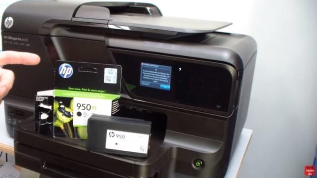 HP OfficeJet Pro 8600 Patronenfehler - Mindestens eine Patrone fehlt oder ist defekt - Problem mit Patronen - Ersatzpatrone einsetzen - Originalpatrone