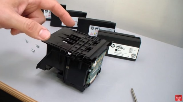 HP OfficeJet Pro 8600 Patronenfehler - Mindestens eine Patrone fehlt oder ist defekt - Druckkopf ausbauen und auseinandernehmen