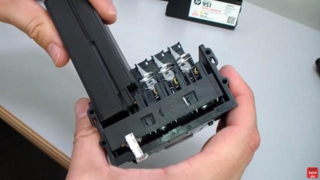 HP OfficeJet Pro 8600 Patronenfehler - Mindestens eine Patrone fehlt oder ist defekt - Druckkopf mit 950XL Tintenpatrone testen