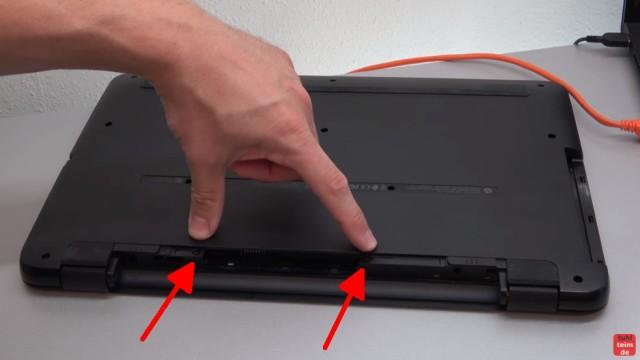 HP Pavilion Notebook PC nicht zu öffnen - Öffnen auf eigene Gefahr - 17-x035ng - zwei Schrauben sind im Akkufach