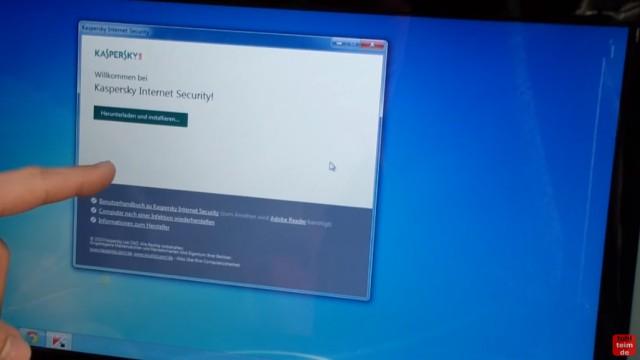 Kaspersky Internet Security runterladen - 365 Tage Abo + 30 Tage geschenkt - Autostart der CD mit Installationssoftware