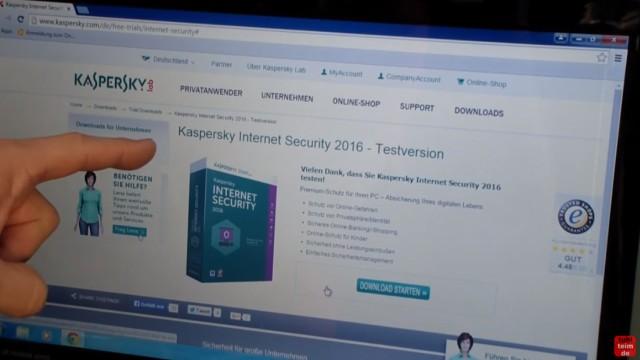 Kaspersky Internet Security runterladen - 365 Tage Abo + 30 Tage geschenkt - Softwaredownload Testversion bei Kaspersky