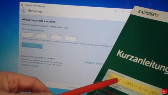 Kaspersky Internet Security runterladen - 365 Tage Abo + 30 Tage geschenkt - Seriennummer (Produkt-Schlüssel) noch nicht eintippen
