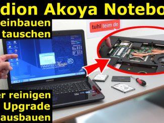 Medion Akoya Notebook SSD HDD tauschen - RAM CMOS DVD Lüfter reinigen