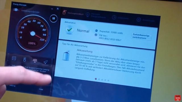 Notebook Akku Problem - lädt nicht 100% - defekt bei neuem Lenovo Notebook - Software kontrolliert Akkustatus