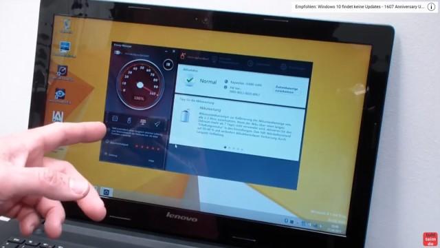 Notebook Akku Problem - lädt nicht 100% - defekt bei neuem Lenovo Notebook - Akku lädt wieder zu 100%