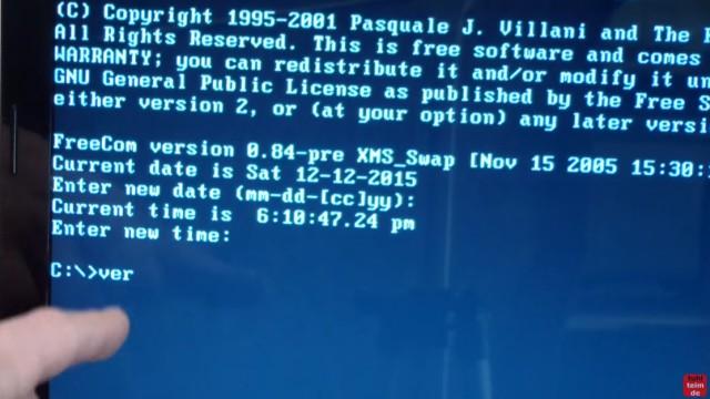 """Notebook mit FreeDOS ohne Windows Betriebssystem gekauft - Laptop bootet nicht - es wird nur Datum, Uhrzeit und """"C:"""" angezeigt"""