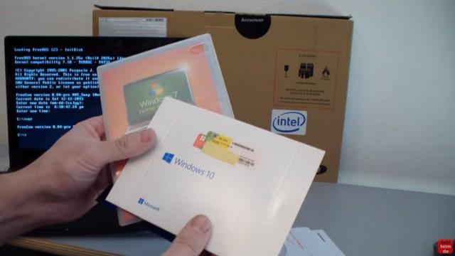Notebook mit FreeDOS ohne Windows Betriebssystem gekauft - Laptop bootet nicht - Windows 10 oder 7 installieren