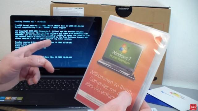 Notebook mit FreeDOS ohne Windows Betriebssystem gekauft - Laptop bootet nicht - Windows 7 kann oft noch günstig auf Windows 10 aktualisiert werden