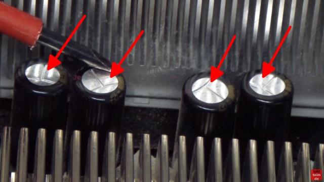 PC Mainboard Reparatur - ohne Funktion / defekt - Kondensator tauschen - diese Kondensatoren sind alle in gutem Zustand