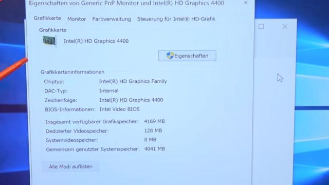 Smart TV 4K UHD an Windows 10 anschließen mit Intel HD Graphics - Eigenschaften der Intel HD Graphics 4400