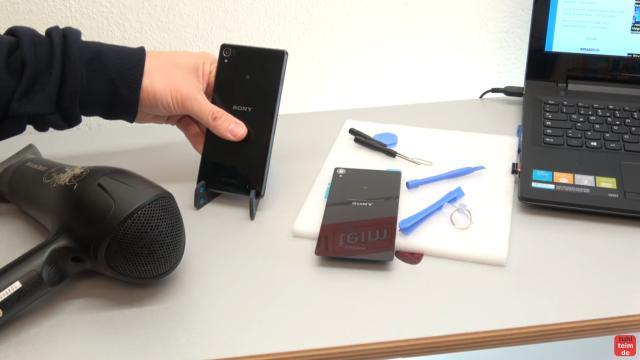Sony Xperia Z3 Backcover + Akku + NFC Antenne austauschen - Reparatur - Handy kann etwas erwärmt werden