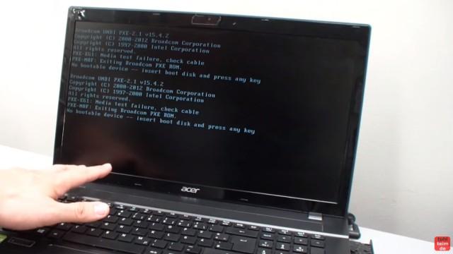 """Windows 10 / 8.1 bootet nicht mehr - """"No bootable device"""" wird angezeigt - Tastendruck hilft wie immer nicht"""