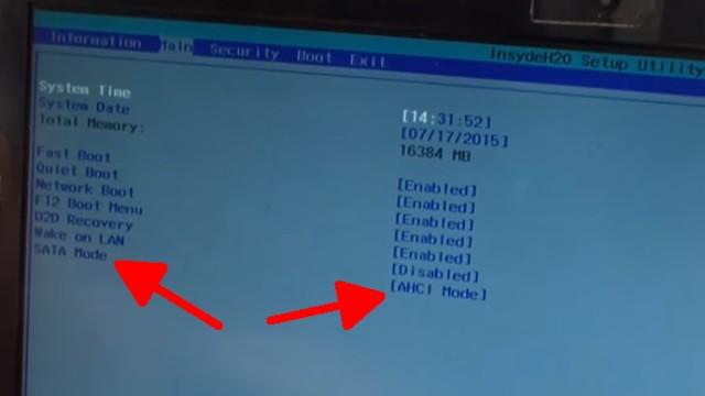 """Windows 10 / 8.1 bootet nicht mehr - """"No bootable device"""" wird angezeigt - SATA-Modus prüfen ob IDE oder AHCI"""