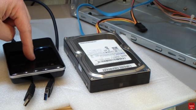 Windows 10 Festplatte klonen auf SSD oder HDD [Teil 1] Zielfestplatte gleich groß oder größer - eine externe USB-Festplatte wird benötigt