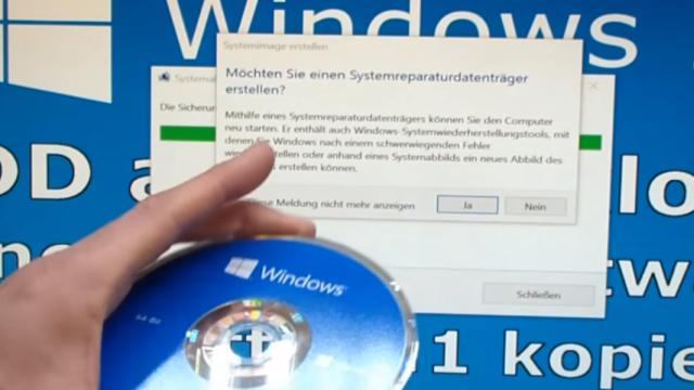 Windows 10 Festplatte klonen auf SSD oder HDD [Teil 1] Zielfestplatte gleich groß oder größer - sicherheitshalber sollte ein Systemreparaturdatenträger erstellt werden