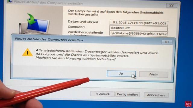 Windows 10 Festplatte klonen auf SSD oder HDD [Teil 1] Zielfestplatte gleich groß oder größer - die neue SSD oder Festplatte wird komplett gelöscht und neu partitioniert