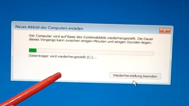 Windows 10 Festplatte klonen auf SSD oder HDD [Teil 1] Zielfestplatte gleich groß oder größer - das Systemabbild wird auf die neue SSD oder HDD kopiert