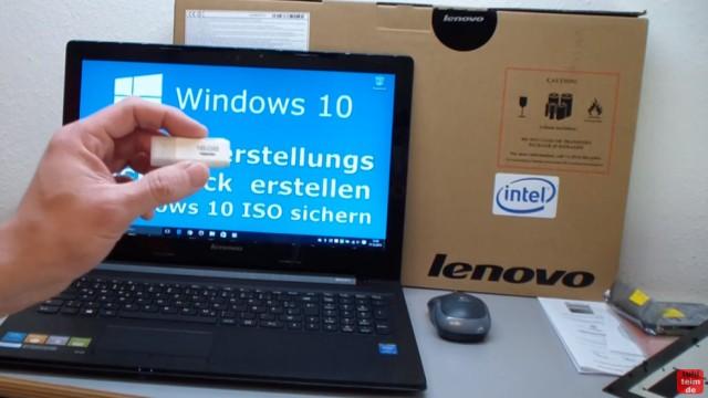 "Windows 10 Recovery USB Stick erstellen zum Reinstallieren - ""Wiederherstellungslaufwerk erstellen"" bei neuem Notebook"