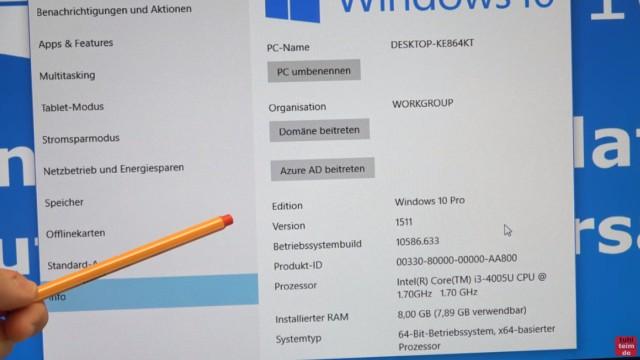 Windows 10 findet keine Updates - 1607 Anniversary Update selbst installieren - Windows 10 - 1511 - 10586.633 ist installiert