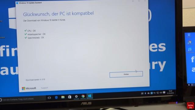 Windows 10 findet keine Updates - 1607 Anniversary Update selbst installieren - Hardwaretest vor Update - PC ist kompatibel