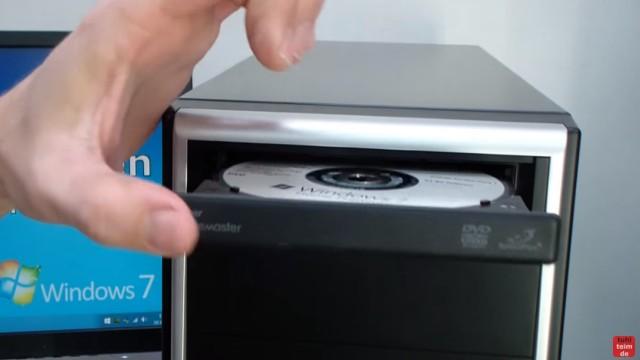 Windows 7 - bootbaren USB-Stick mit Windows 7 DVD oder ISO erstellen und bootfähig machen - original DVD einlegen