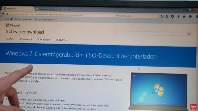 Windows 7 - bootbaren USB-Stick mit Windows 7 DVD oder ISO erstellen und bootfähig machen - alternativ die Windows 7 ISO von Microsoft runterladen