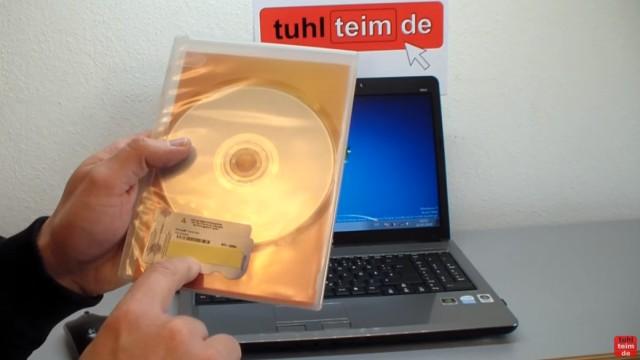 Windows 7 neu installieren von CD oder USB-Stick - Updates und Aktivieren - Clean Install - der Product-Key wird gebraucht