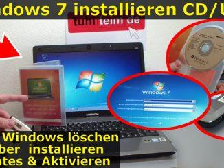 Windows 7 neu installieren von CD oder USB-Stick - Updates und Aktivieren - Clean Install