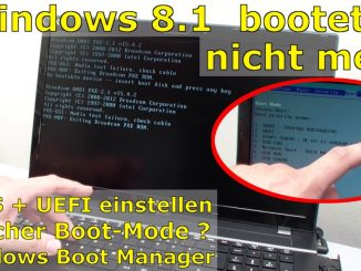 """Windows 10 / 8.1 bootet nicht mehr - """"No bootable device"""" wird angezeigt"""
