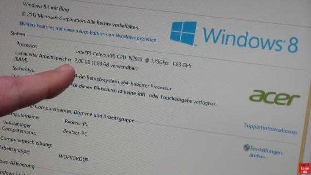 Acer Extensa 2509 Notebook RAM Erweitern Upgrade - dieses Laptop hat nur 2GB RAM