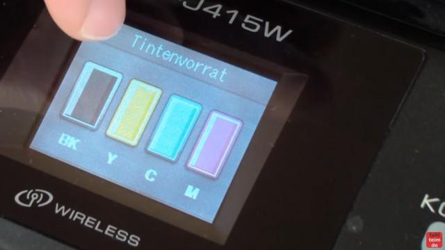 Brother MFC Druckkopf reinigen ohne Ausbau - Ausdruck ist streifig - im Display wird der Tintenvorrat / Tintenfüllstand angezeigt