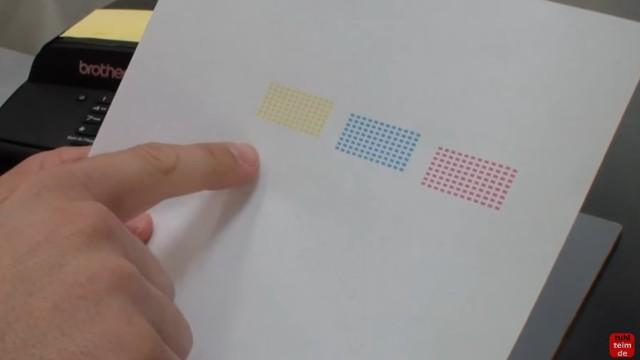 Brother MFC Druckkopf reinigen ohne Ausbau - Ausdruck ist streifig - beim Testausdruck fehlt Schwarz komplett