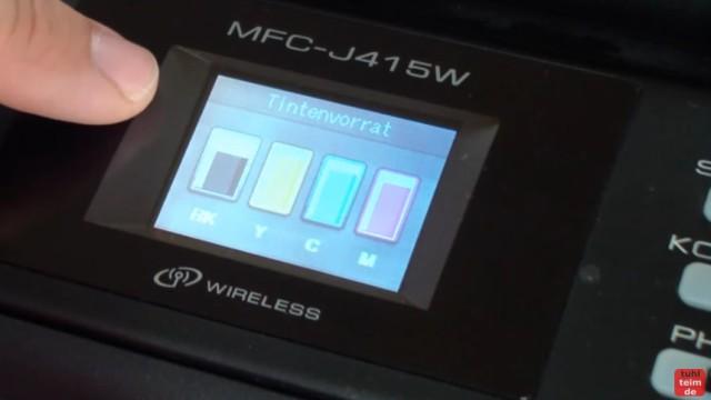 Brother MFC Druckkopf reinigen ohne Ausbau - Ausdruck ist streifig - nach einigen Reinigungsvorgängen ist aber 25% der schwarzen Tinte verbraucht