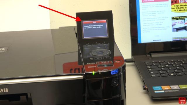Canon Pixma Fehler 5B00 Error - Totalschaden - Druckkopf ausbauen - Reset - nach dem Einschalten erscheint direkt der Fehlercode 5B00