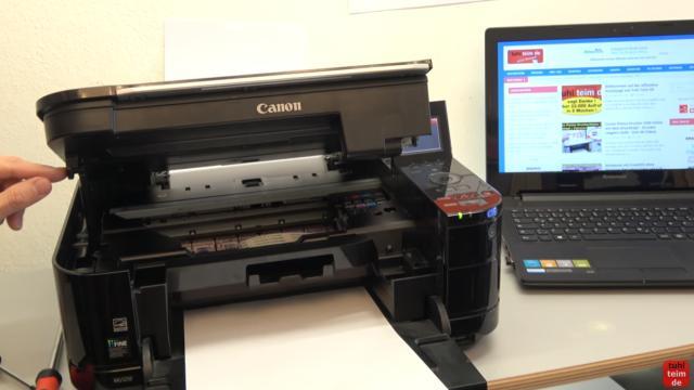 Canon Pixma Fehler 5B00 Error - Totalschaden - Druckkopf ausbauen - Reset - zuerst den Drucker öffnen