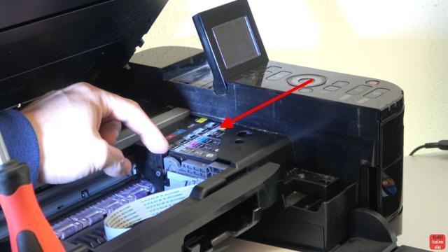 Canon Pixma Fehler 5B00 Error - Totalschaden - Druckkopf ausbauen - Reset - der Druckkopf sitzt bei diesem Gerät fest und bewegt sich überhaupt nicht