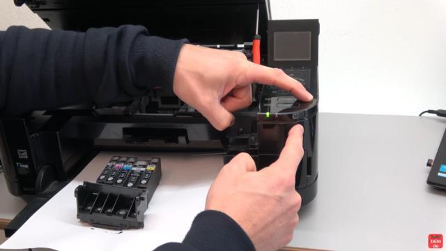 Canon Pixma Fehler 5B00 Error - Totalschaden - Druckkopf ausbauen - Reset - den Drucker jetzt über die Tasten zurücksetzen