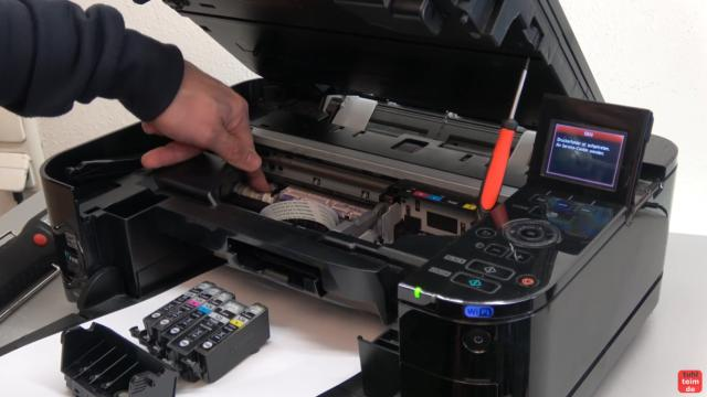 Canon Pixma Fehler 5B00 Error - Totalschaden - Druckkopf ausbauen - Reset - die Walzen lassen sich mit der Hand drehen