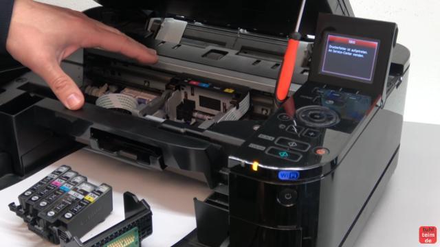 Canon Pixma Fehler 5B00 Error - Totalschaden - Druckkopf ausbauen - Reset - bei diesem Drucker liegt ein Totalschaden vor